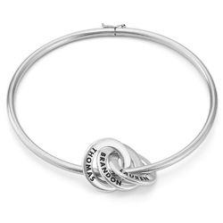 Silberner Armreif mit russischen Ringen Produktfoto