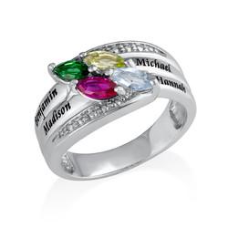 Geburtsstein-Ring für Mütter Produktfoto