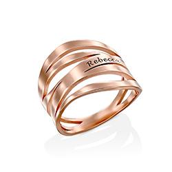 Margeaux Ring mit Namen - mit 750er Rosévergoldung Produktfoto