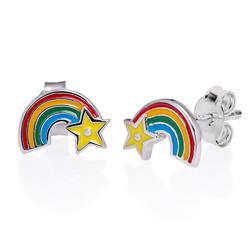 Regenbogen Ohrringe für Kinder Produktfoto