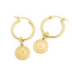 Odeion Initialen Ohrringe in Gold-Vermeil Produktfoto