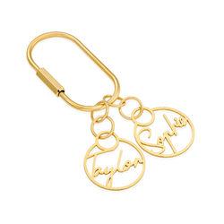 Personalisierter Schlüsselanhänger mit Goldplattierung Produktfoto