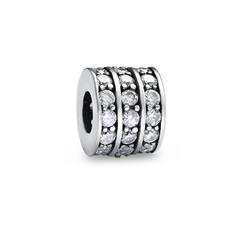 Runde Charm-Perle mit Zirkonia Produktfoto