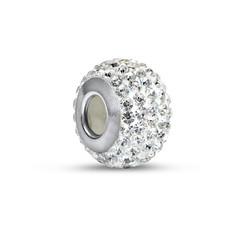 Kristall Geburtsstein Glasperle mit Zirkonia Produktfoto