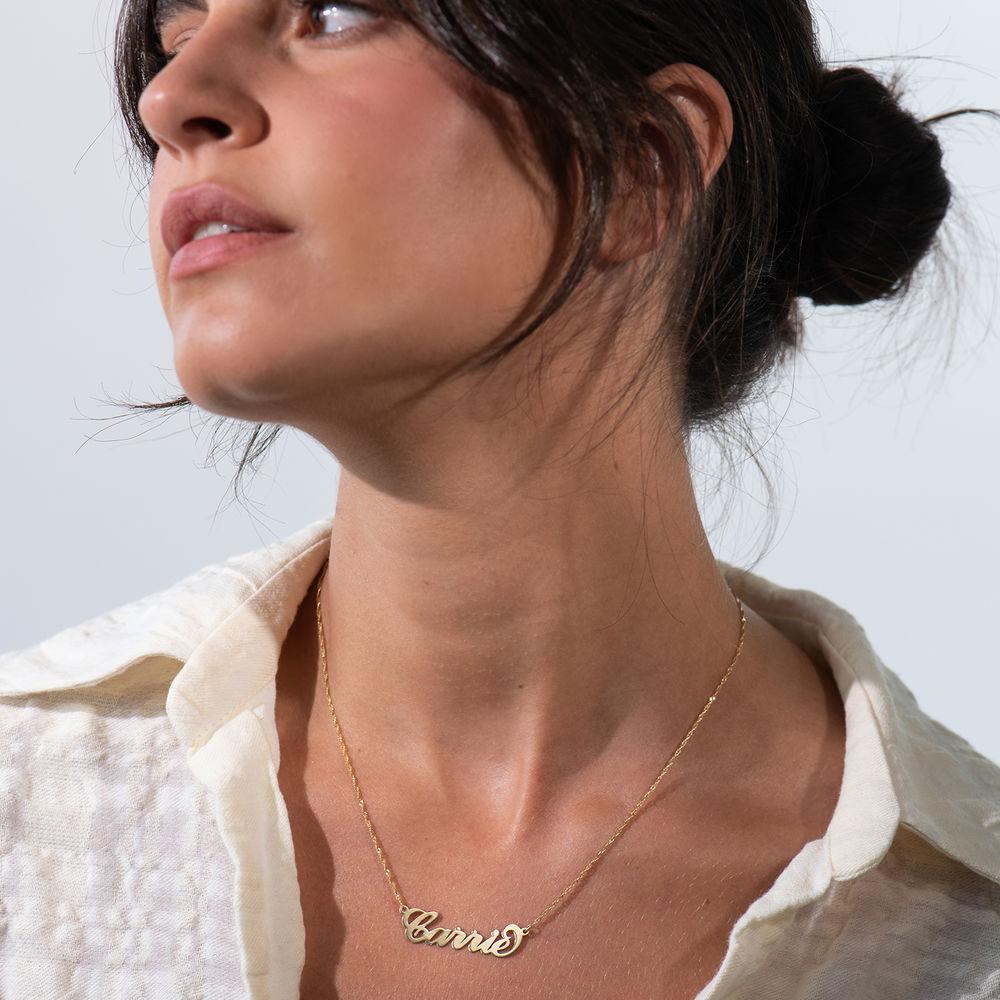 Carrie-Style personlig navnehalskæde i 14kt. guld - 2