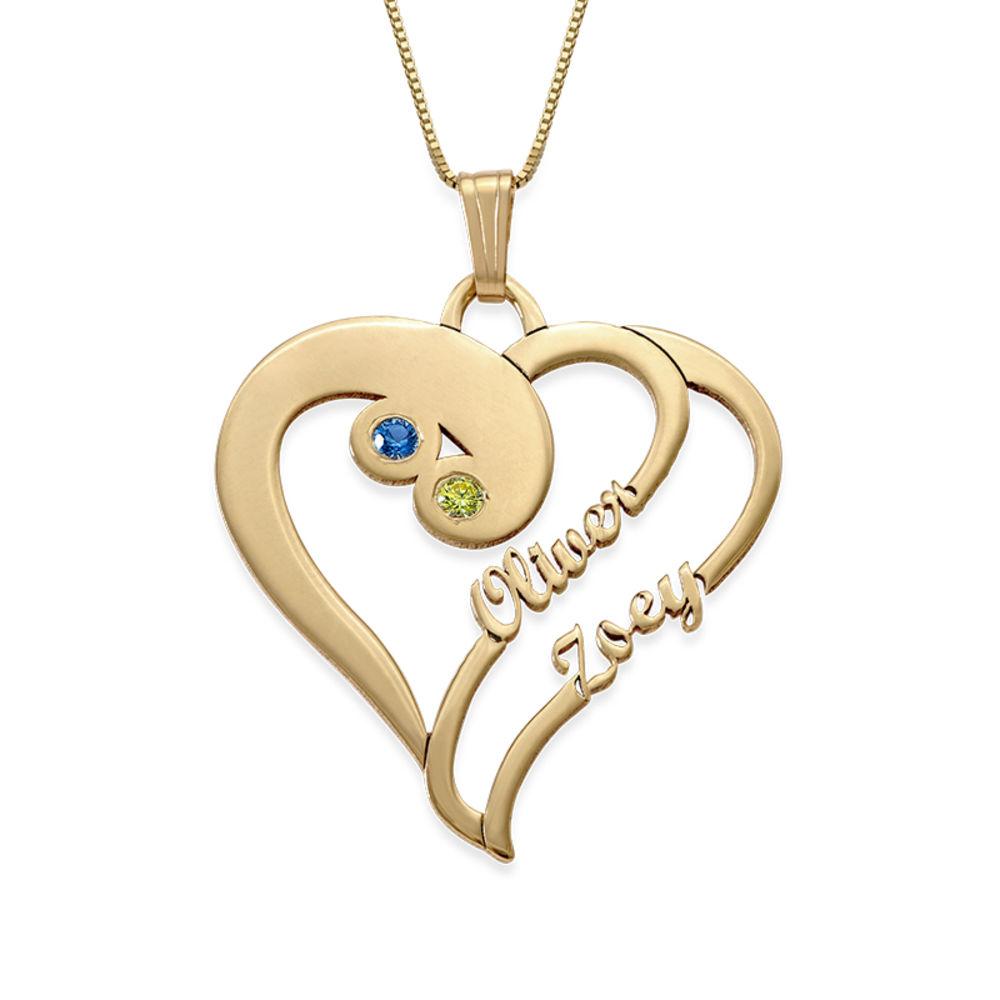 To hjerter for evigt-halskæde i 14k guld