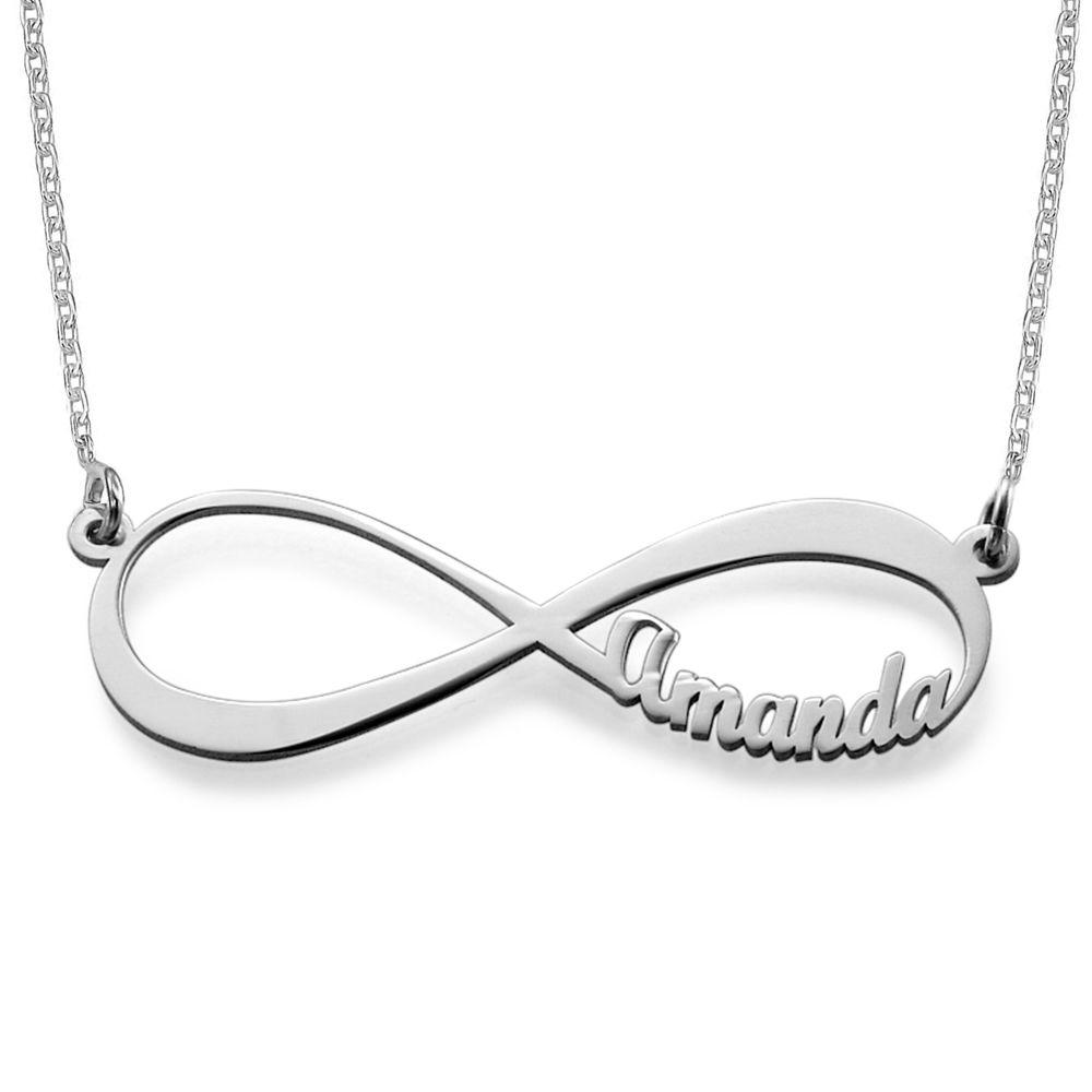 Infinity halskæde med navn i sølv - 1