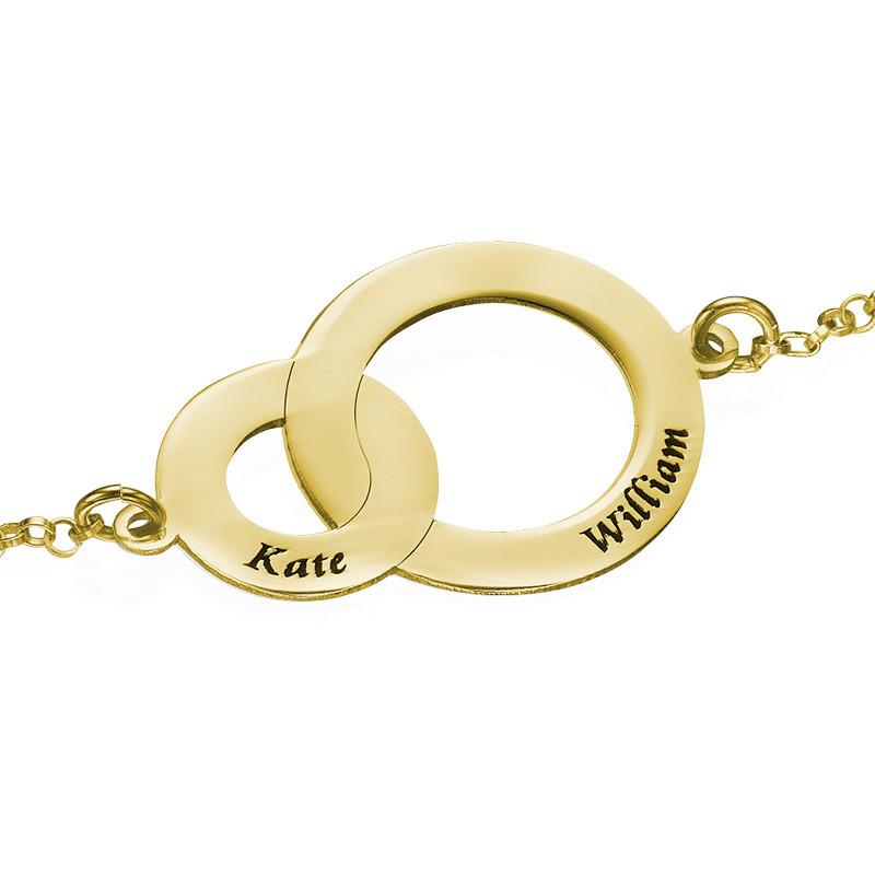 Sammenhængende cirkel armbånd i forgyldt sølv - 1