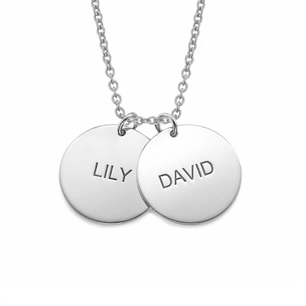 Personlig mor halskæde med med navn i sølv