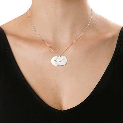 Personlig mor halskæde med med navn i sølv - 1