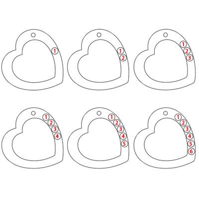 Hjertehalskæde til mor med gravering og fødselssten i sølv - 2