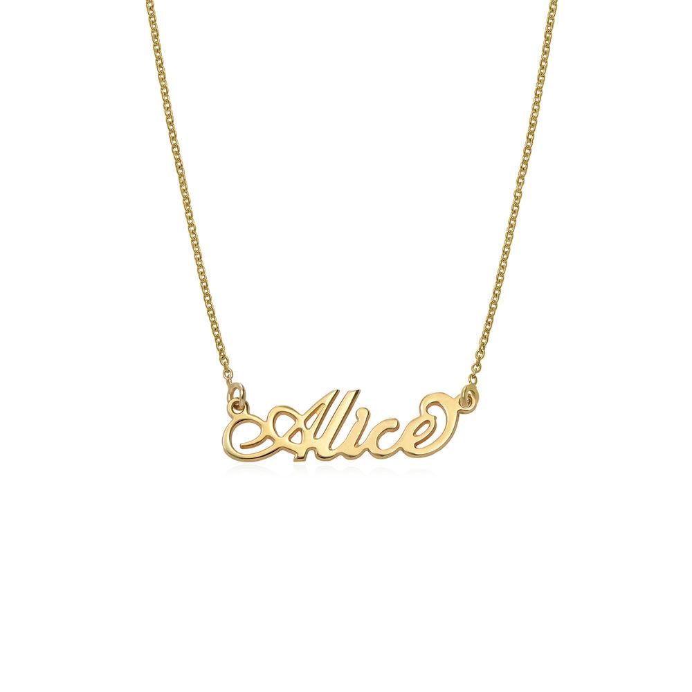 Lille Carrie-style navnehalskæde i guld vermeil - 1