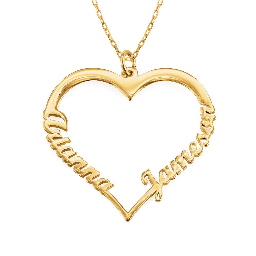 Hjerte halskæde i 10 karat guld