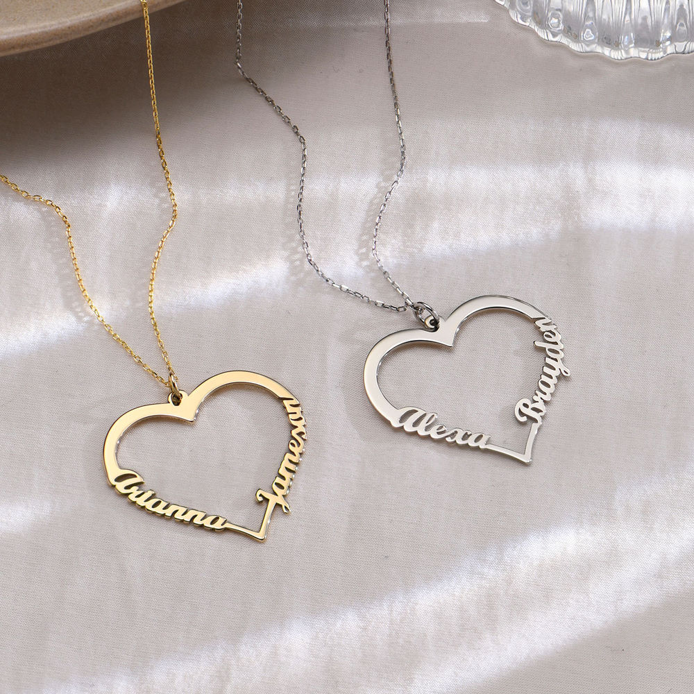 Hjerte halskæde i 10 karat guld - 1