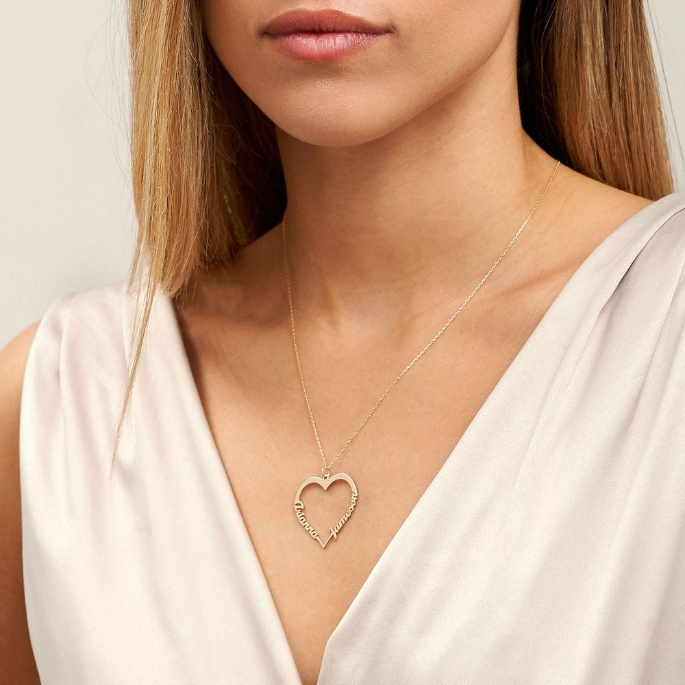 Hjerte halskæde i 10 karat guld - 3