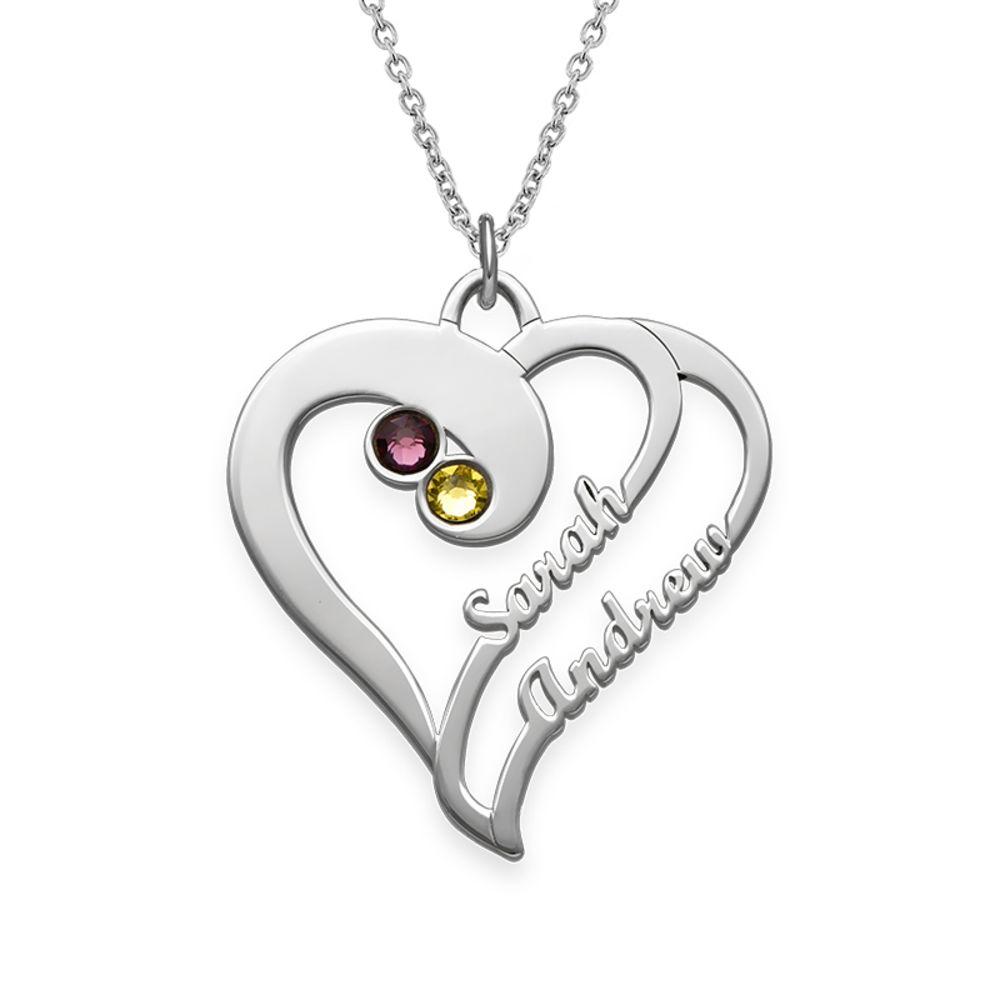 To hjerter for evigt-halskæde i sølv