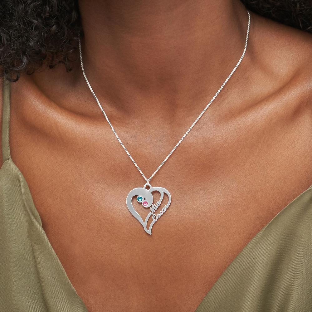 To hjerter for evigt-halskæde i sølv - 3