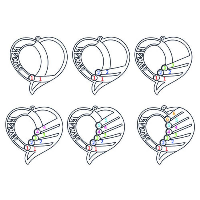 Indgraveret mor halskæde med månedssten - Forgyldt - 8