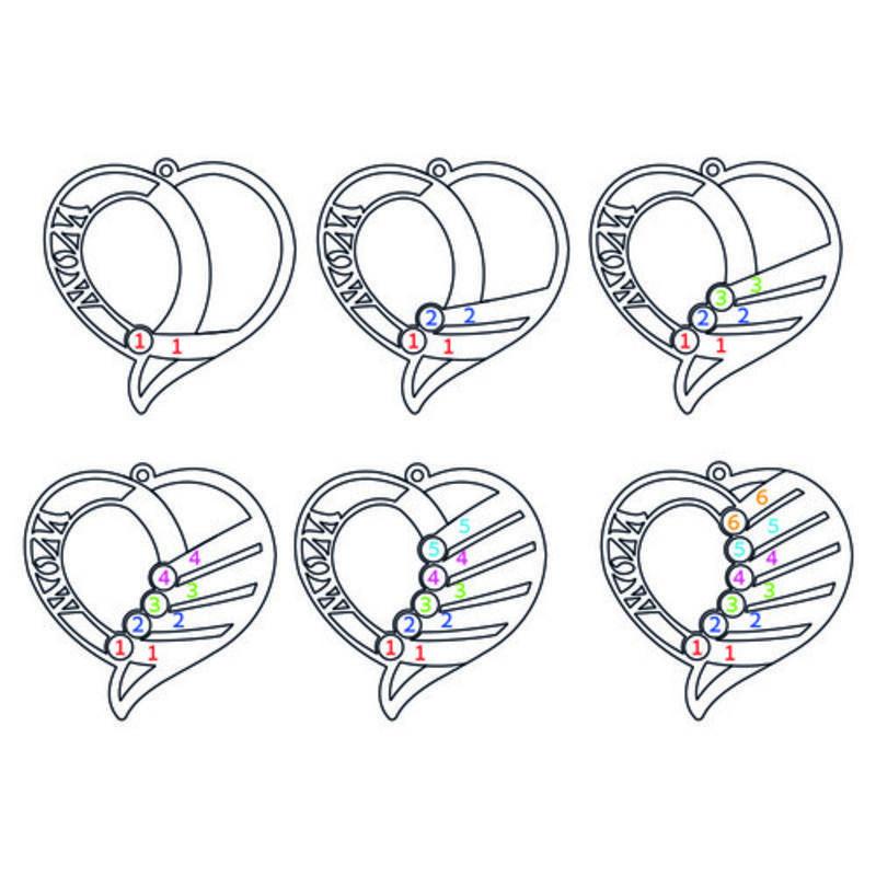 Indgraveret mor halskæde med månedssten - Rosaforgyldt - 8