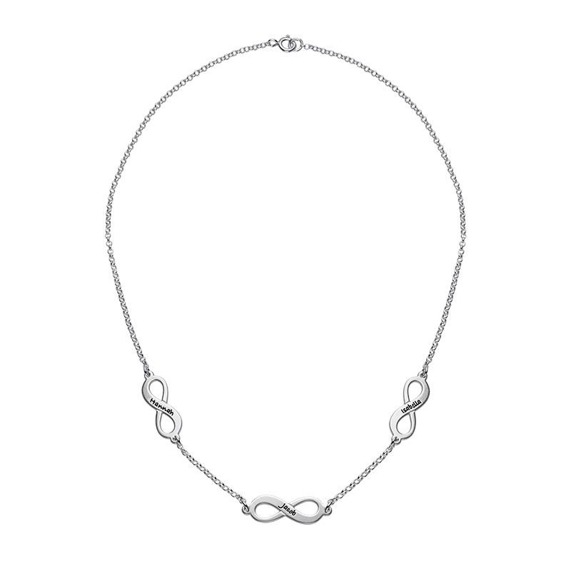Infinity halskæde med flere vedhæng i sterlingsølv - 1