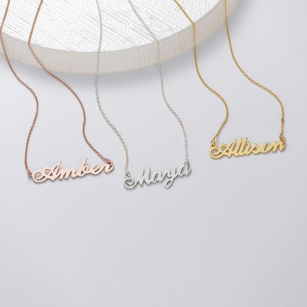 Lille klassisk navnehalskæde i guld vermeil - 1