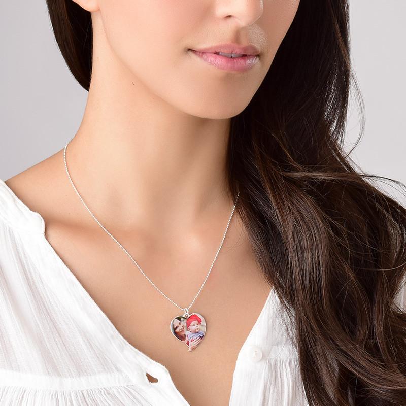 Hjerteformet foto halskæde i sterlingsølv - 4