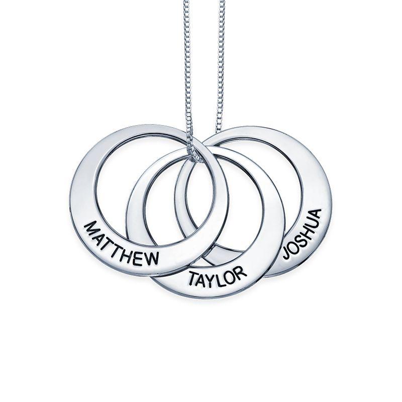 Mor halskæde med cirkel vedhæng i sølv