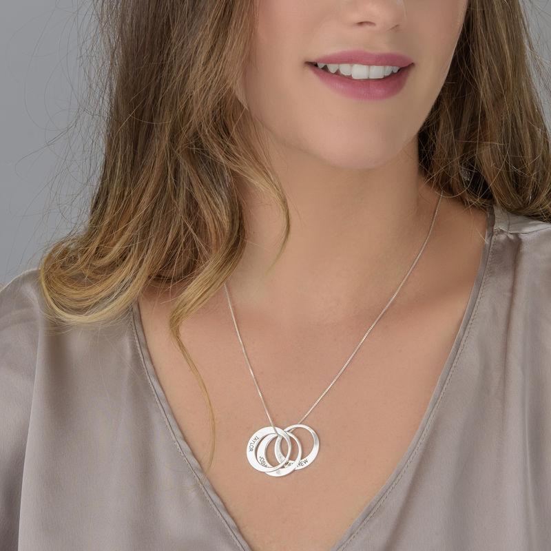 Mor halskæde med cirkel vedhæng i sølv - 3
