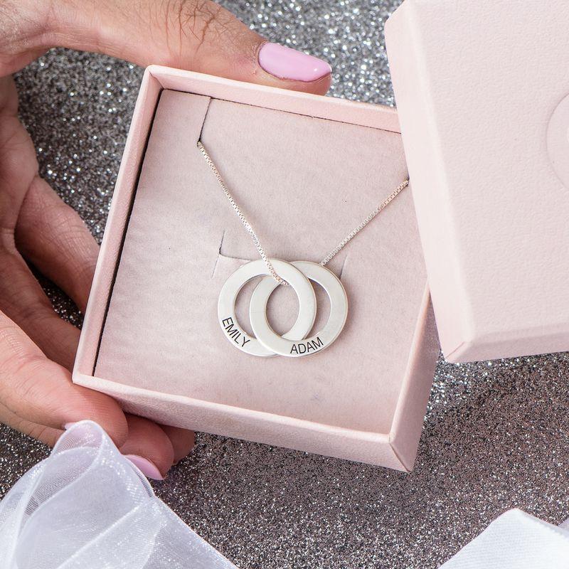 Russisk ring-halskæde med to ringe i sølv - 5