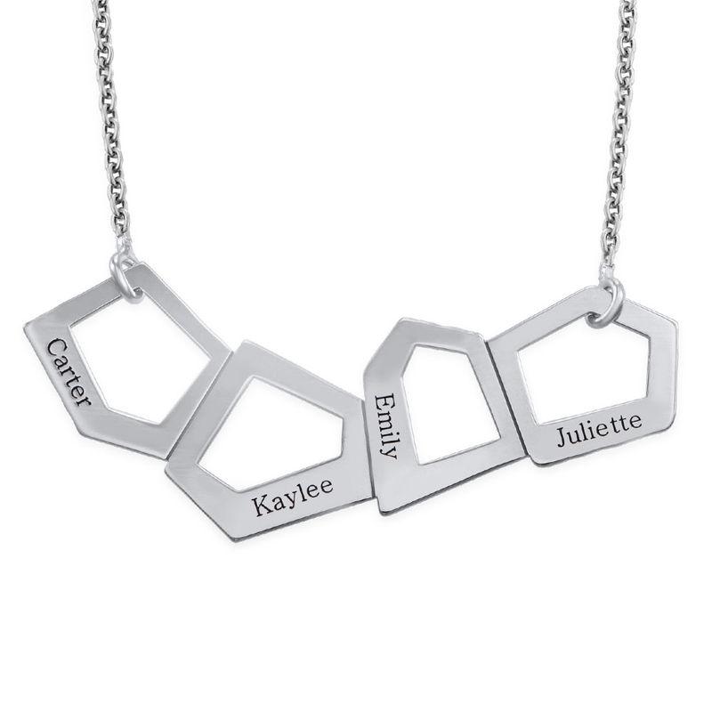 Geometrisk halskæde til mødremedindgravering i sølv - 1
