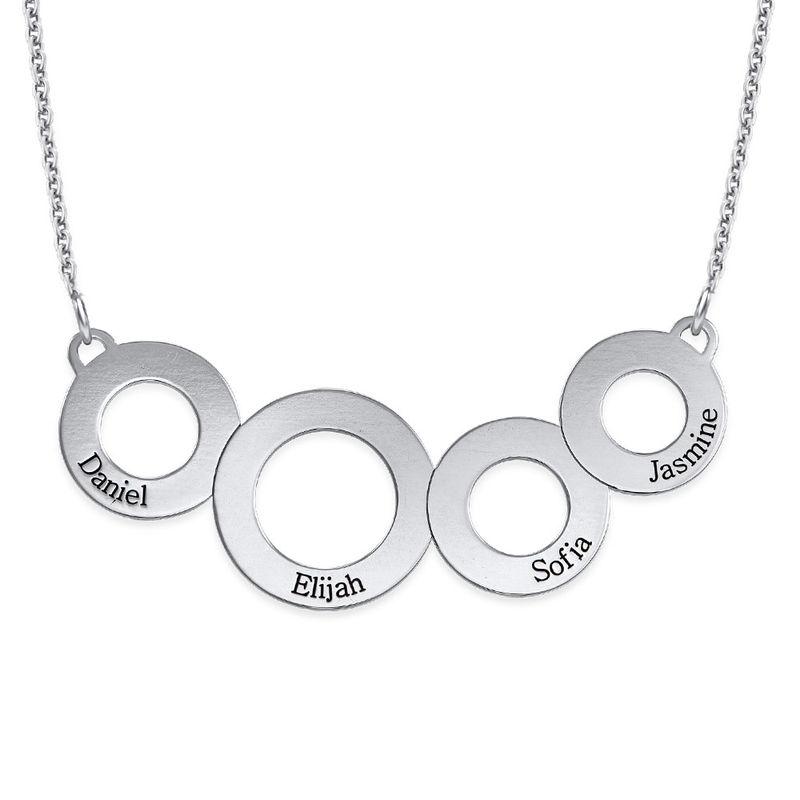 Indgraveret cirkel halskæde i Sterling sølv - 1