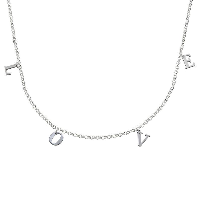 Choker halskæde med initialer i sølv