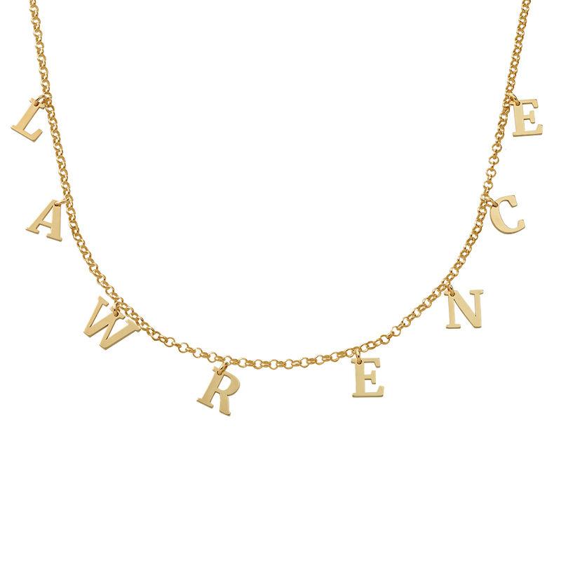 Choker halskæde med initialer i forgyldt sølv