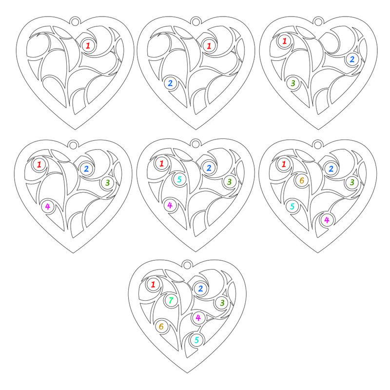Hjerteformet livets træ halskæde med diamanter - forgyldt - 3