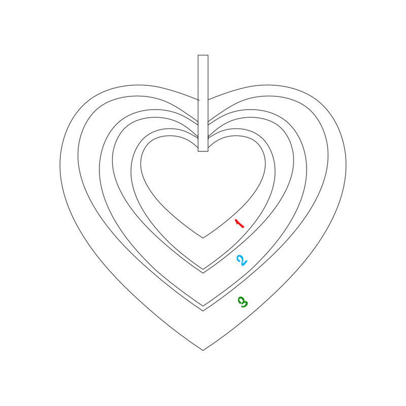 Hjerteformet familiehalskæde med navne i forgyldt sølv - 5
