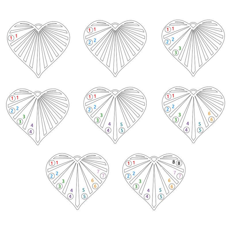 Familie halskæde med månedssten i sterlingsølv - 8