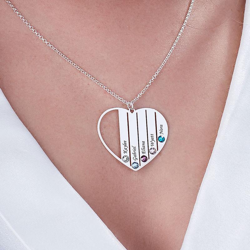 Mor halskæde med månedssten i sterlingsølv - 5