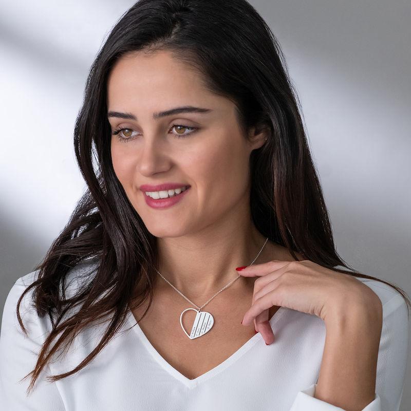 Mor-halskæde med diamanter i sterlingsølv - 2