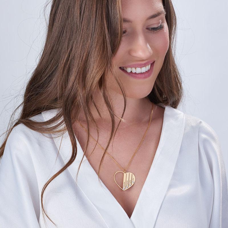 Mor halskæde med månedssten i guld vermeil - 4