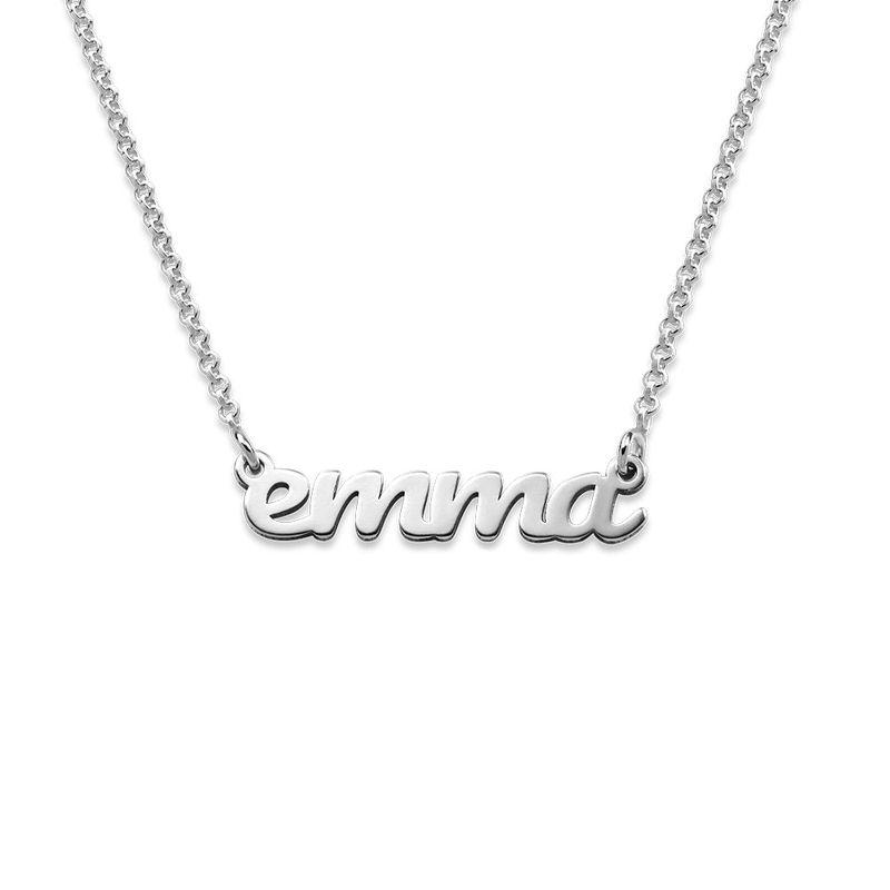 Kursiv navnehalskæde i sølv - 1