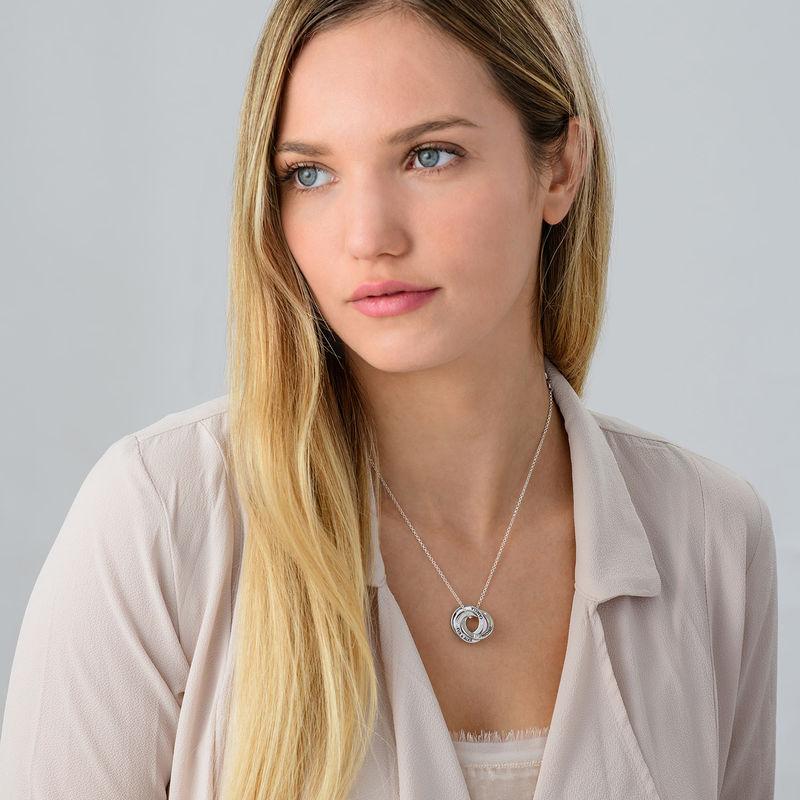 Russisk ring halskæde i sølv med Cubic Zirconia - 2