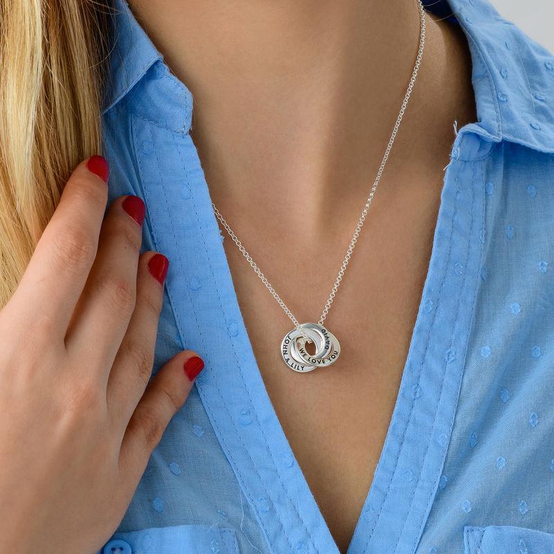 Russisk ring halskæde til mænd i sølv - mini design - 2