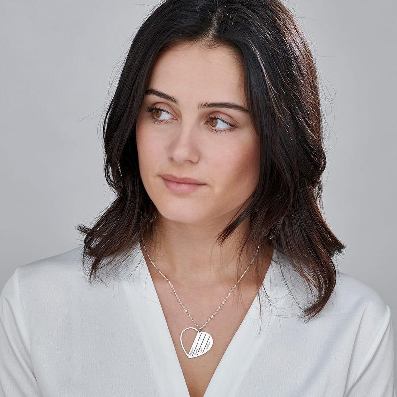 Mor halskæde med hjerte i sterlingsølv - 2