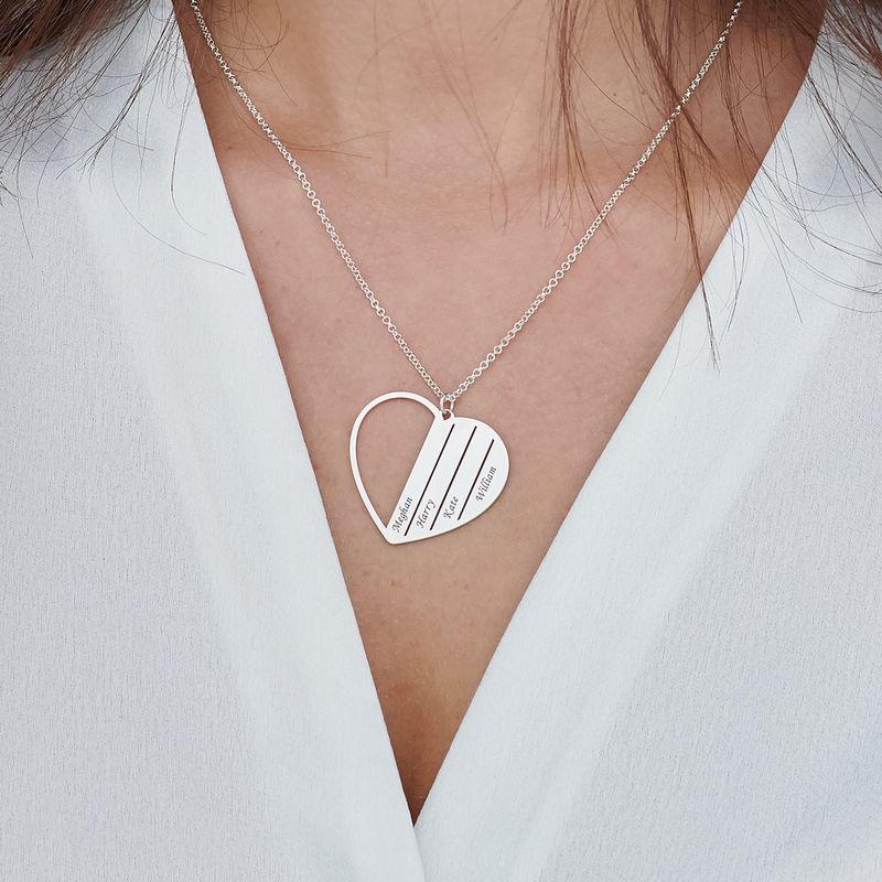 Mor halskæde med hjerte i sterlingsølv - 3
