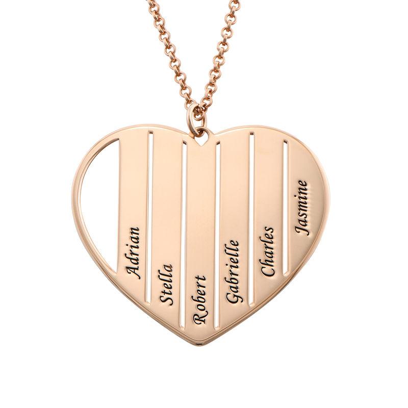 Mor halskæde med hjerte i rosaforgyldt