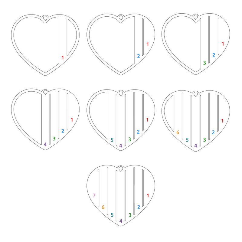 Mor halskæde med hjerte i rosaforgyldt - 4