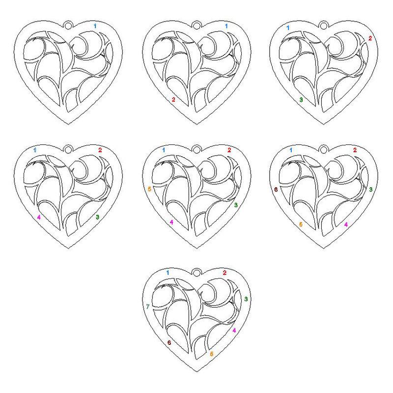 Hjerteformet livets træ halskæde i rosaforgyldt sølv - 7