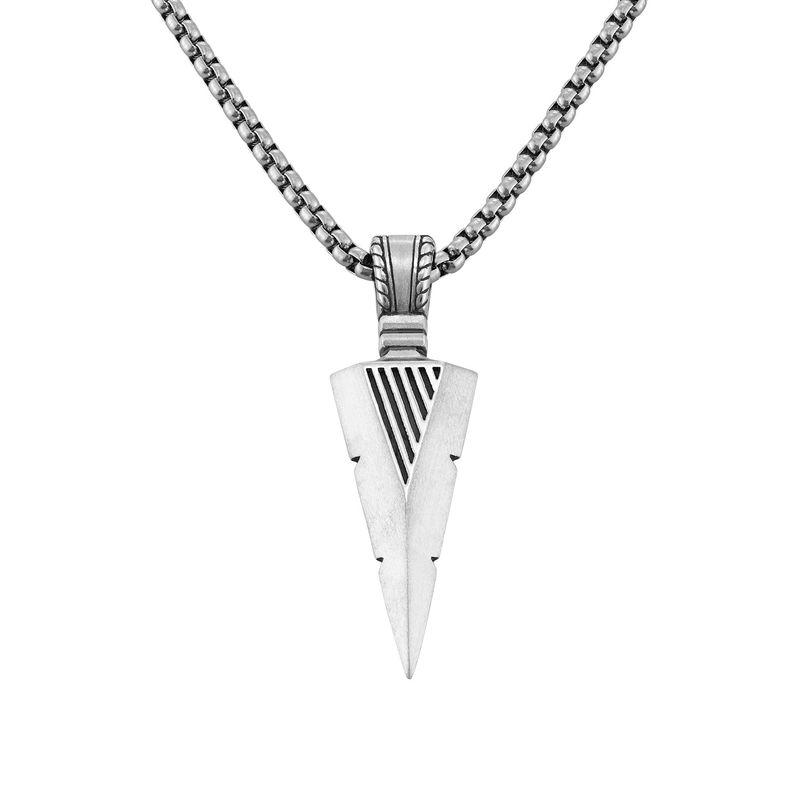 Pilespids halskæde til mænd i sølv