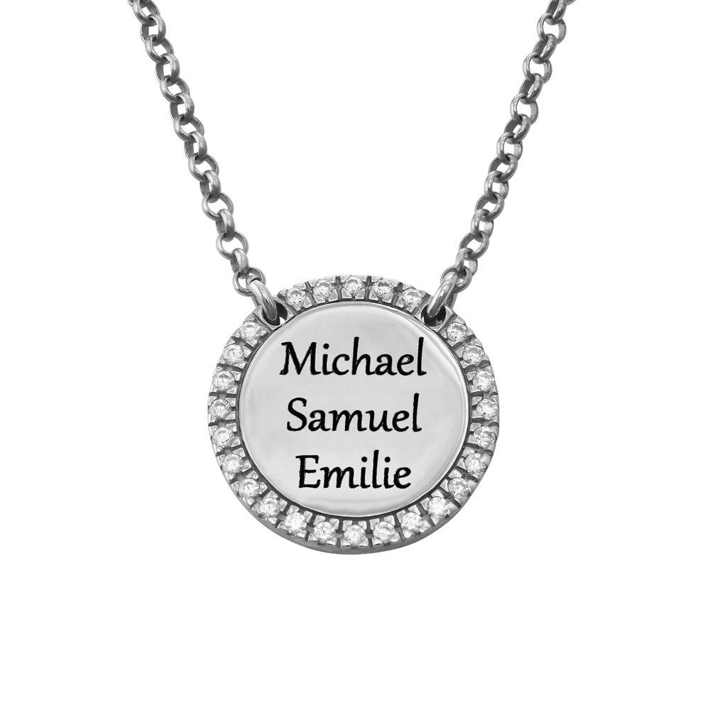 Personlig Halskæde med Cirkel og Zirconia i sølv - 2