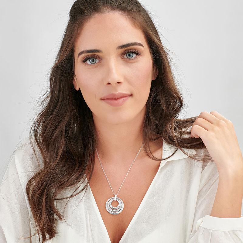 Rund halskæde med gravering i sølv - 1